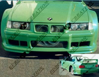 3 Series 4Dr - Rear Bumper - VIS Racing. - BMW 3 Series VIS Racing GT Widebody Rear Bumper - 92BME362DGTWB-002