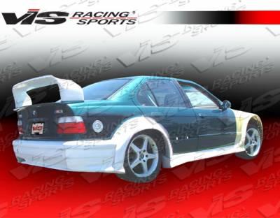 3 Series 4Dr - Rear Bumper - VIS Racing. - BMW 3 Series VIS Racing GT Widebody Rear Bumper - 92BME364DGTWB-002