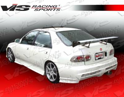 Civic 2Dr - Rear Bumper - VIS Racing - Honda Civic 2DR & 4DR VIS Racing Xtreme Rear Bumper - 92HDCVC2DEX-002