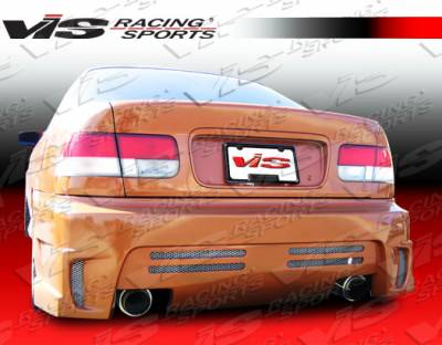 Civic 2Dr - Rear Bumper - VIS Racing - Honda Civic 2DR & 4DR VIS Racing GT Bomber Rear Bumper - 92HDCVC2DGB-002