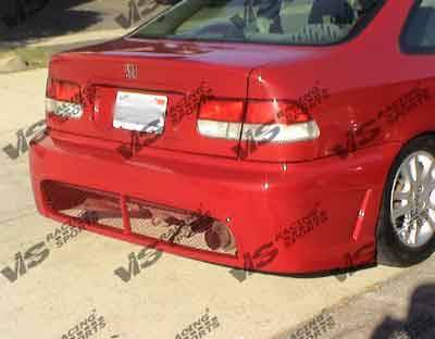 Civic 2Dr - Rear Bumper - VIS Racing - Honda Civic 2DR & 4DR VIS Racing TSC-2 Rear Bumper - 92HDCVC2DTSC2-002