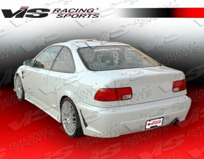 Civic 2Dr - Rear Bumper - VIS Racing - Honda Civic 2DR VIS Racing TSC-3 Rear Bumper - 92HDCVC2DTSC3-002
