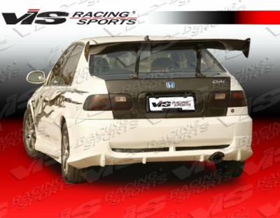 Civic 2Dr - Rear Bumper - VIS Racing - Honda Civic 2DR & 4DR VIS Racing Wings Rear Bumper - 92HDCVC2DWIN-002