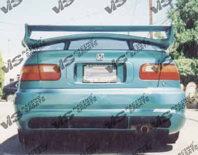 Civic 2Dr - Rear Bumper - VIS Racing - Honda Civic 2DR & 4DR VIS Racing Wizdom Rear Bumper - 92HDCVC2DWZ-002
