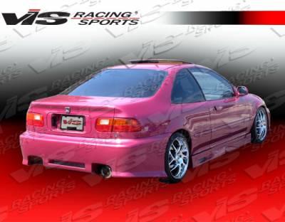 Civic 2Dr - Rear Bumper - VIS Racing - Honda Civic 2DR & 4DR VIS Racing Z1 boxer Rear Bumper - 92HDCVC2DZ1-002