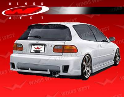Civic HB - Rear Bumper - VIS Racing - Honda Civic HB VIS Racing JPC Type A Rear Bumper - 92HDCVCHBJPCA-002