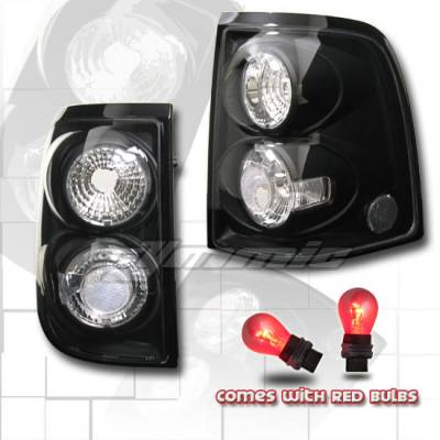 Headlights & Tail Lights - Tail Lights - Custom - Black Clear Taillights (Red Lense