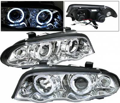 Headlights & Tail Lights - Headlights - 4 Car Option - BMW 3 Series 4DR 4 Car Option Dual Halo Projector Headlights - LP-BE464CC-5