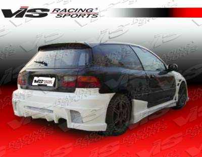 Civic HB - Rear Bumper - VIS Racing - Honda Civic HB VIS Racing J Speed Rear Bumper - 92HDCVCHBJSP-002