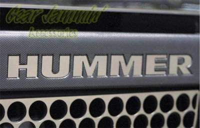 Accessories - Emblems - Custom - H3 Bumper Chrome Letters