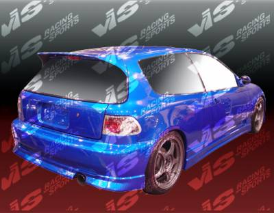 Civic HB - Rear Bumper - VIS Racing - Honda Civic HB VIS Racing Tracer Rear Bumper - 92HDCVCHBTRA-002