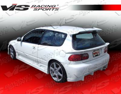 Civic HB - Rear Bumper - VIS Racing - Honda Civic HB VIS Racing TSC Rear Bumper - 92HDCVCHBTSC-002
