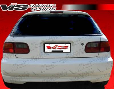 Civic HB - Rear Bumper - VIS Racing - Honda Civic HB VIS Racing Type R Rear Lip - 92HDCVCHBTYR-012