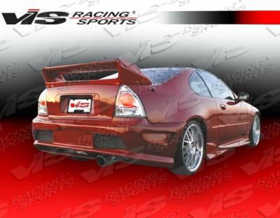Prelude - Rear Bumper - VIS Racing - Honda Prelude VIS Racing Kombat Rear Bumper - 92HDPRE2DKOM-002