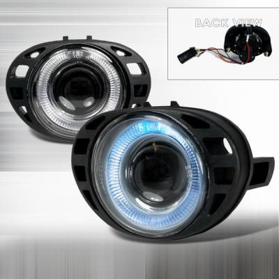 Headlights & Tail Lights - Fog Lights - Custom Disco - Dodge Caravan Custom Disco Halo Projector Fog Lights - LF-PCAR99-TM
