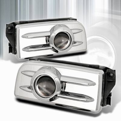 Headlights & Tail Lights - Fog Lights - Custom Disco - BMW 3 Series Custom Disco Chrome Projector Fog Lights - LF-PE3692