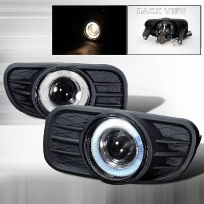 Headlights & Tail Lights - Fog Lights - Custom Disco - Jeep Grand Cherokee Custom Disco Halo Projector Fog Lights - LF-PGKEE99H-TM