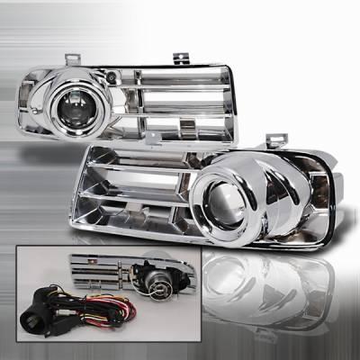 Headlights & Tail Lights - Fog Lights - Custom Disco - Volkswagen Golf Custom Disco Chrome Projector Fog Lights - LF-PGLF-99-YD