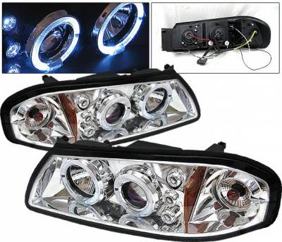 Headlights & Tail Lights - Headlights - 4 Car Option - Chevrolet Impala 4 Car Option LED Halo Projector Headlights - Chrome - LP-CIM06CB-5