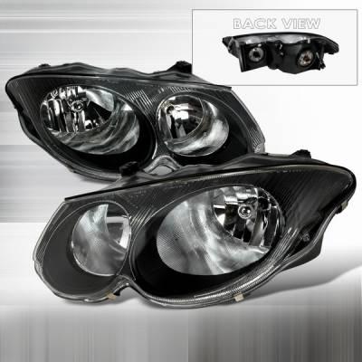 Headlights & Tail Lights - Headlights - Custom Disco - Chrysler 300 Custom Disco Black Crystal Headlights - LH-300M99JM-KS
