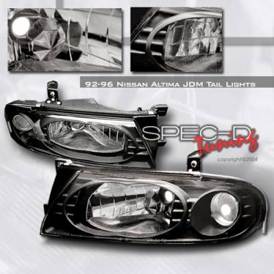 Headlights & Tail Lights - Headlights - Custom Disco - Nissan Altima Custom Disco Black Headlights - LH-ALT93JM-YD