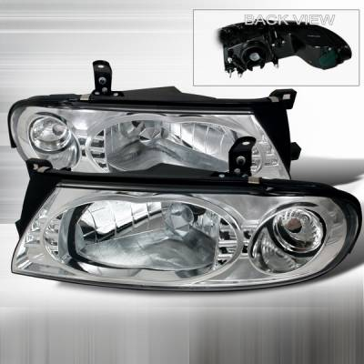 Headlights & Tail Lights - Headlights - Custom Disco - Nissan Altima Custom Disco Chrome Headlights - LH-ALT93-YD