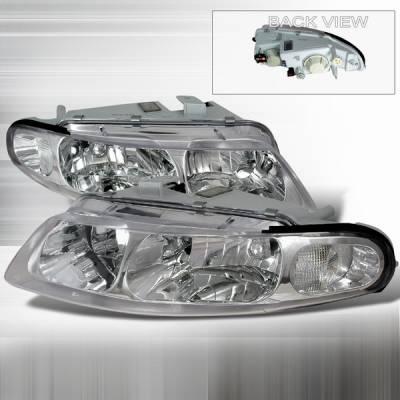 Headlights & Tail Lights - Headlights - Custom Disco - Dodge Avenger Custom Disco Clear Crystal Headlights - LH-AVG97-DP