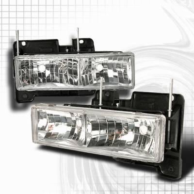 Headlights & Tail Lights - Headlights - Custom Disco - Chevrolet C10 Custom Disco Headlights - LH-C1088
