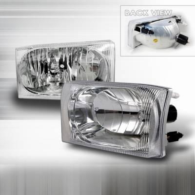 Headlights & Tail Lights - Headlights - Custom Disco - Ford F250 Custom Disco Headlights - LH-F25099-KS
