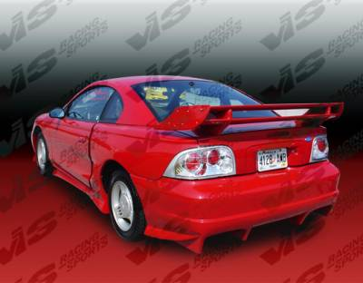 Mustang - Rear Bumper - VIS Racing - Ford Mustang VIS Racing Invader Rear Bumper - 94FDMUS2DINV-002