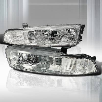 Headlights & Tail Lights - Headlights - Custom Disco - Mitsubishi Galant Custom Disco Chrome JDM Headlights - LH-GAL99-KS
