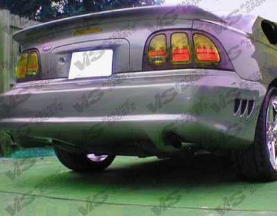 Mustang - Rear Bumper - VIS Racing - Ford Mustang VIS Racing Stalker Rear Bumper - Urethane - 94FDMUS2DSTK-002P