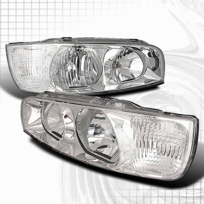 Headlights & Tail Lights - Headlights - Custom Disco - Hyundai Elantra Custom Disco Chrome Headlights - LH-HTRA01-KS