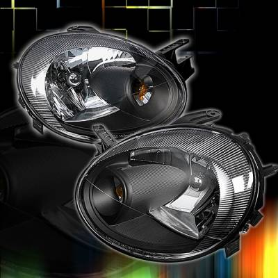 Headlights & Tail Lights - Headlights - Custom Disco - Dodge Neon Custom Disco Black Headlights - LH-NEO03JM-KS