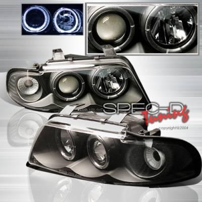 Custom Disco - Audi A4 Custom Disco Black Projector Headlights - LHP-A496JM-YD