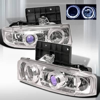 Headlights & Tail Lights - Headlights - Custom Disco - Chevrolet Astro Custom Disco Clear Projector Headlights - LHP-AST85B-YD