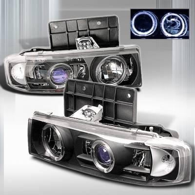 Headlights & Tail Lights - Headlights - Custom Disco - Chevrolet Astro Custom Disco Black Projector Headlights - LHP-AST85JMB-YD