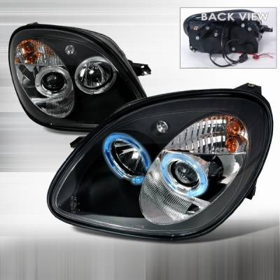 Headlights & Tail Lights - Headlights - Custom Disco - Mercedes-Benz SLK Custom Disco Black Projector Headlights - LHP-BR17098JM-YD