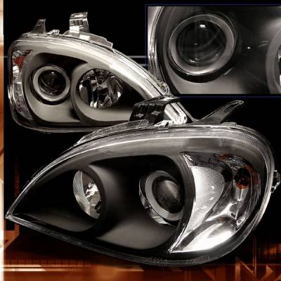 Headlights & Tail Lights - Headlights - Custom Disco - Mercedes-Benz ML Custom Disco Black Projector Headlights - LHP-BW16398JM-TM
