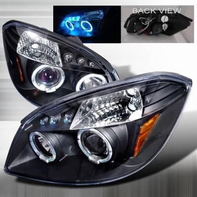 Headlights & Tail Lights - Headlights - Custom Disco - Chevrolet Cobalt Custom Disco Black Halo LED Projector Headlights - LHP-COB05JM-TM