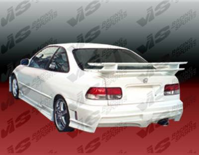 Civic 2Dr - Rear Bumper - VIS Racing - Honda Civic 2DR & 4DR VIS Racing Xtreme Rear Bumper - 96HDCVC2DEX-002