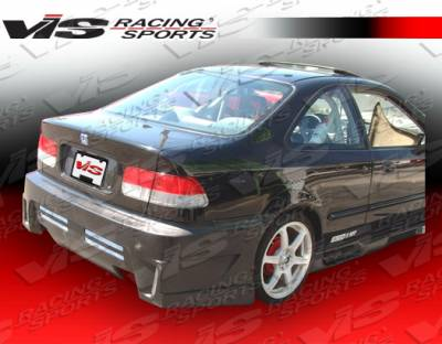 Civic 2Dr - Rear Bumper - VIS Racing - Honda Civic 2DR & 4DR VIS Racing GT Bomber Rear Bumper - 96HDCVC2DGB-002
