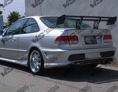 Civic 2Dr - Rear Bumper - VIS Racing - Honda Civic 2DR & 4DR VIS Racing Kombat-2 Rear Bumper - 96HDCVC2DKOM2-002