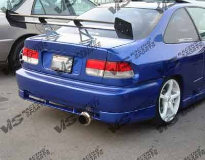 Civic 2Dr - Rear Bumper - VIS Racing - Honda Civic 2DR & 4DR VIS Racing Techno R Rear Bumper - 96HDCVC2DTNR-002
