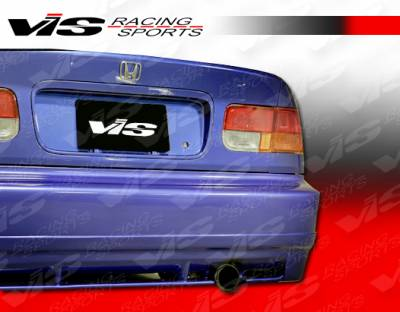 Civic 2Dr - Rear Bumper - VIS Racing - Honda Civic 2DR & 4DR VIS Racing Techno R Rear Lip - 96HDCVC2DTNR-012
