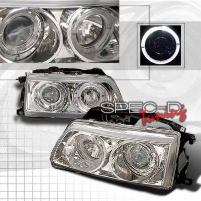 Headlights & Tail Lights - Headlights - Custom Disco - Honda CRX Custom Disco Clear Projector Headlights - LHP-CRX90