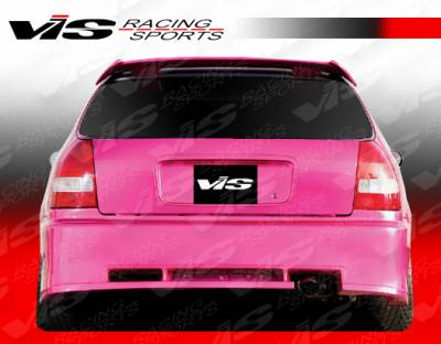 Civic 2Dr - Rear Bumper - VIS Racing - Honda Civic 2DR & 4DR VIS Racing Walker Rear Bumper - 96HDCVC2DWAL-002