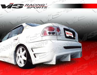 Civic 2Dr - Rear Bumper - VIS Racing - Honda Civic 2DR & 4DR VIS Racing Wave Rear Bumper - 96HDCVC2DWAV-002
