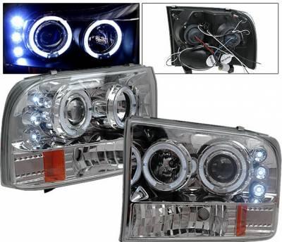 Headlights & Tail Lights - Headlights - 4CarOption - Ford F350 4CarOption Projector Headlights - LP-FF250CC-5
