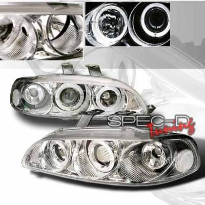 Headlights & Tail Lights - Headlights - Custom Disco - Honda Civic 4DR Custom Disco Clear Projector Headlights - 1PC - LHP-CV92